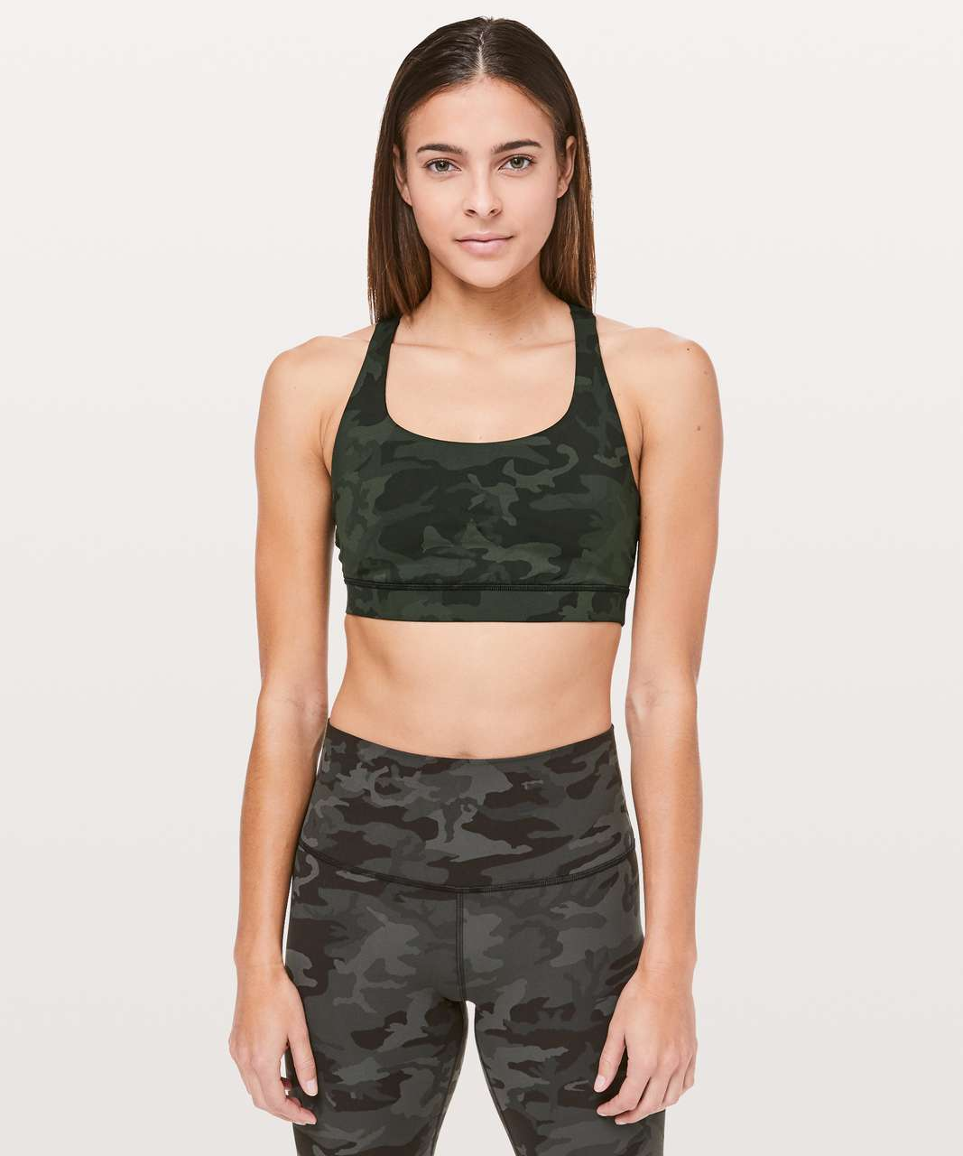 Lululemon Energy Bra - Incognito Camo Multi Gator Green