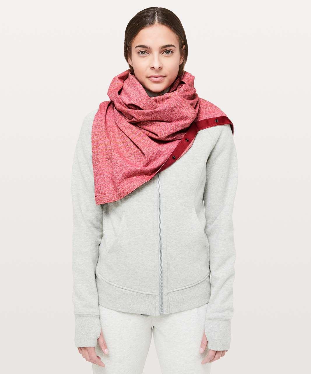 Lululemon Vinyasa Scarf *Rulu - Mini Akido Stripe Heathered Violet Red Heathered Dark Sport Red