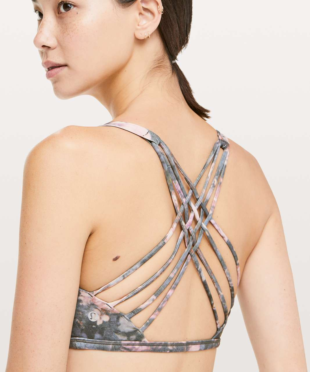 Lululemon Free To Be Bra (Wild) - Frosted Rose Multi