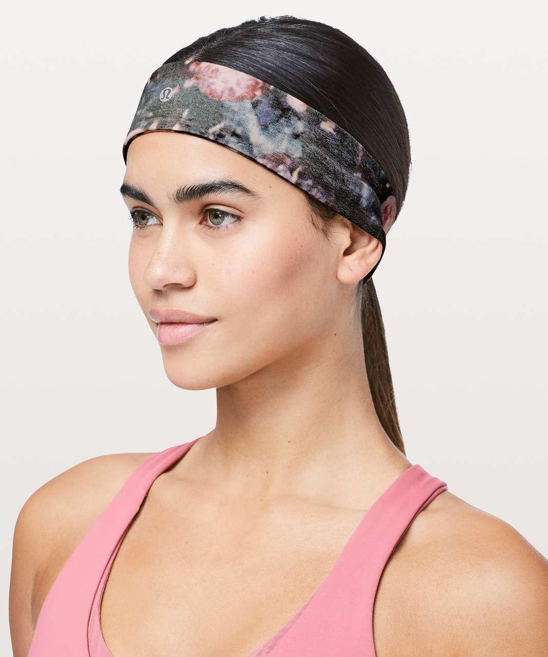 Lululemon Fly Away Tamer Headband II - Frosted Rose Multi