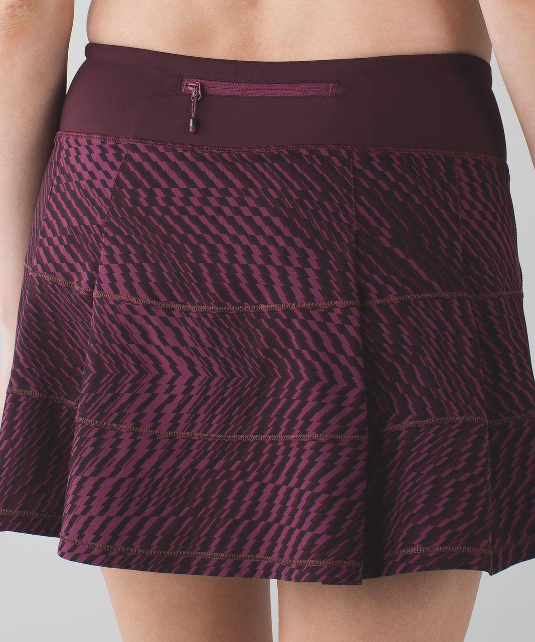 Lululemon Pace Rival Skirt II (Tall) - Shifted Horizon Red Grape Black / Bordeaux Drama