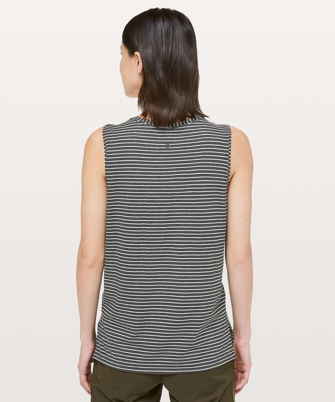Lululemon Love Sleeveless Tank - Modern Stripe Heathered Black White