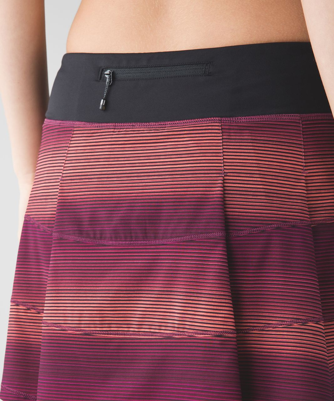 Lululemon Pace Rival Skirt II (Tall) - Simply Radiant Pink Paradise Black / Black