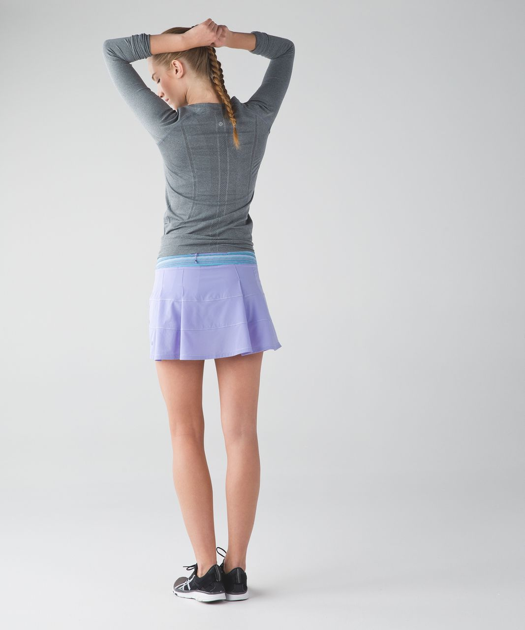Lululemon Pace Rival Skirt II (Tall) - Lilac / Wave Twist Lilac Caspian Blue