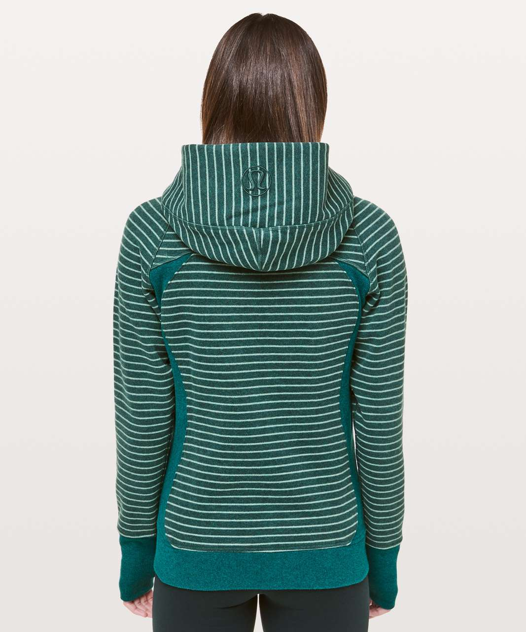 Lululemon Scuba Hoodie *Classic Cotton Fleece - Parallel Stripe Heathered Emerald Heathered Green Smoke