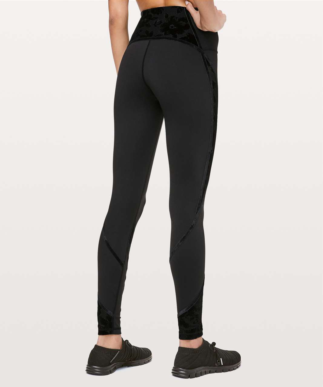 "Lululemon Wunder Under High-Rise Tight* Flocked 28"" - Black / Scatter Floral Black Black"