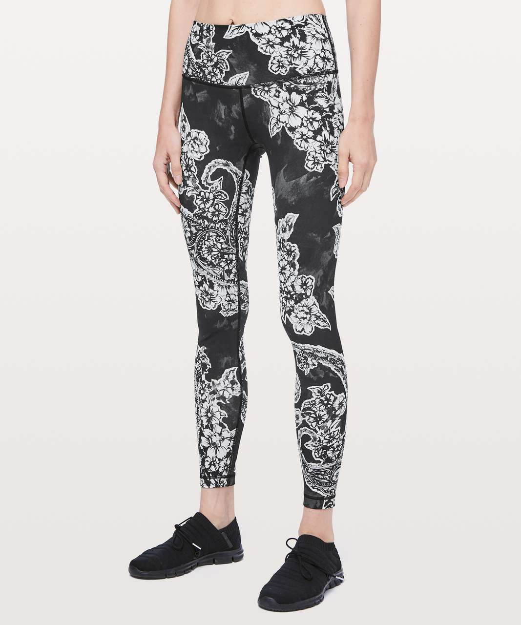 "Lululemon Wunder Under High-Rise Tight *Engineered Full-On Luxtreme 28"" - Painted Paisley Wunder Under Silver Ice Black"