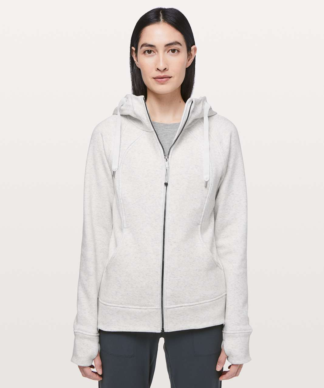 Lululemon Scuba Hoodie *Plush - Heathered White / White