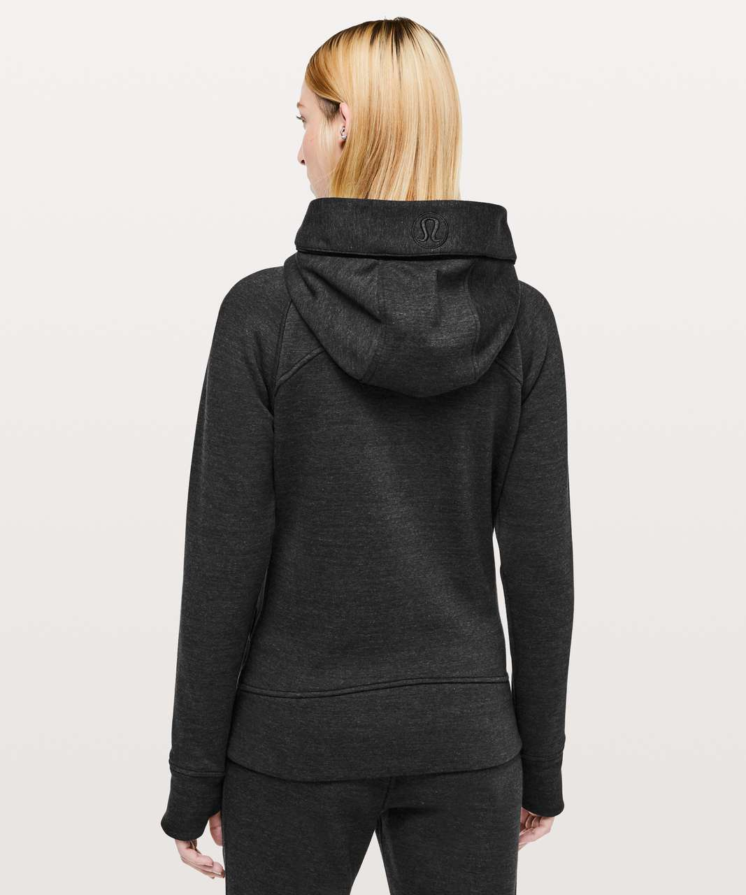 Lululemon Scuba Hoodie *Plush - Heathered Core Black / Black