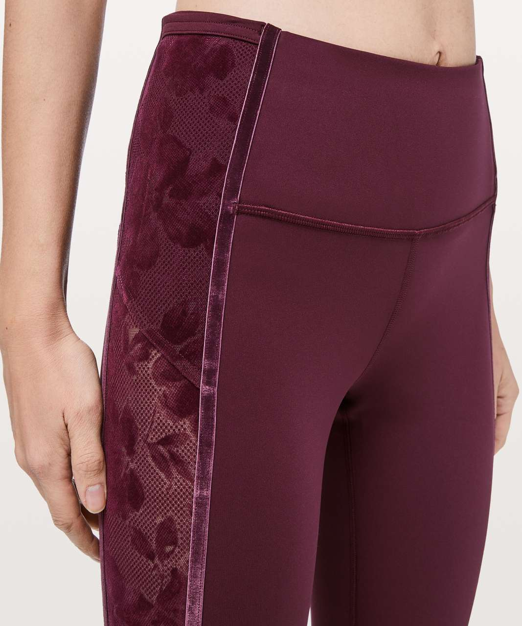 "Lululemon Wunder Under Crop High-Rise *Flocked 21"" - Dark Adobe / Scatter Floral Dark Adobe Dark Adobe"