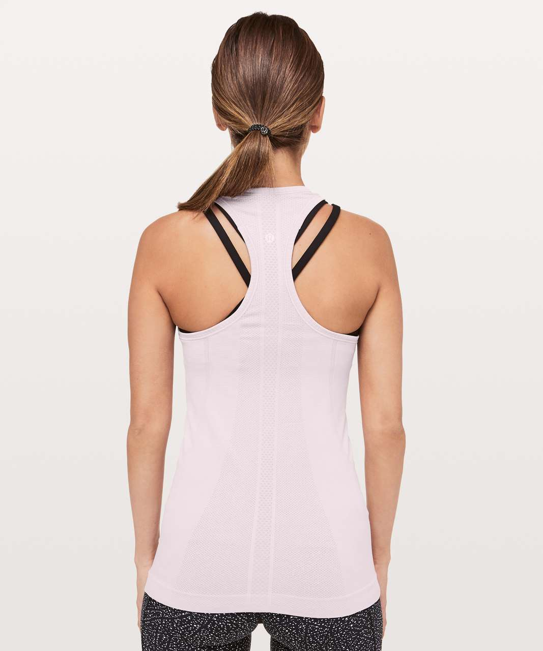 Lululemon Swiftly Tech Racerback - Porcelain Pink / White