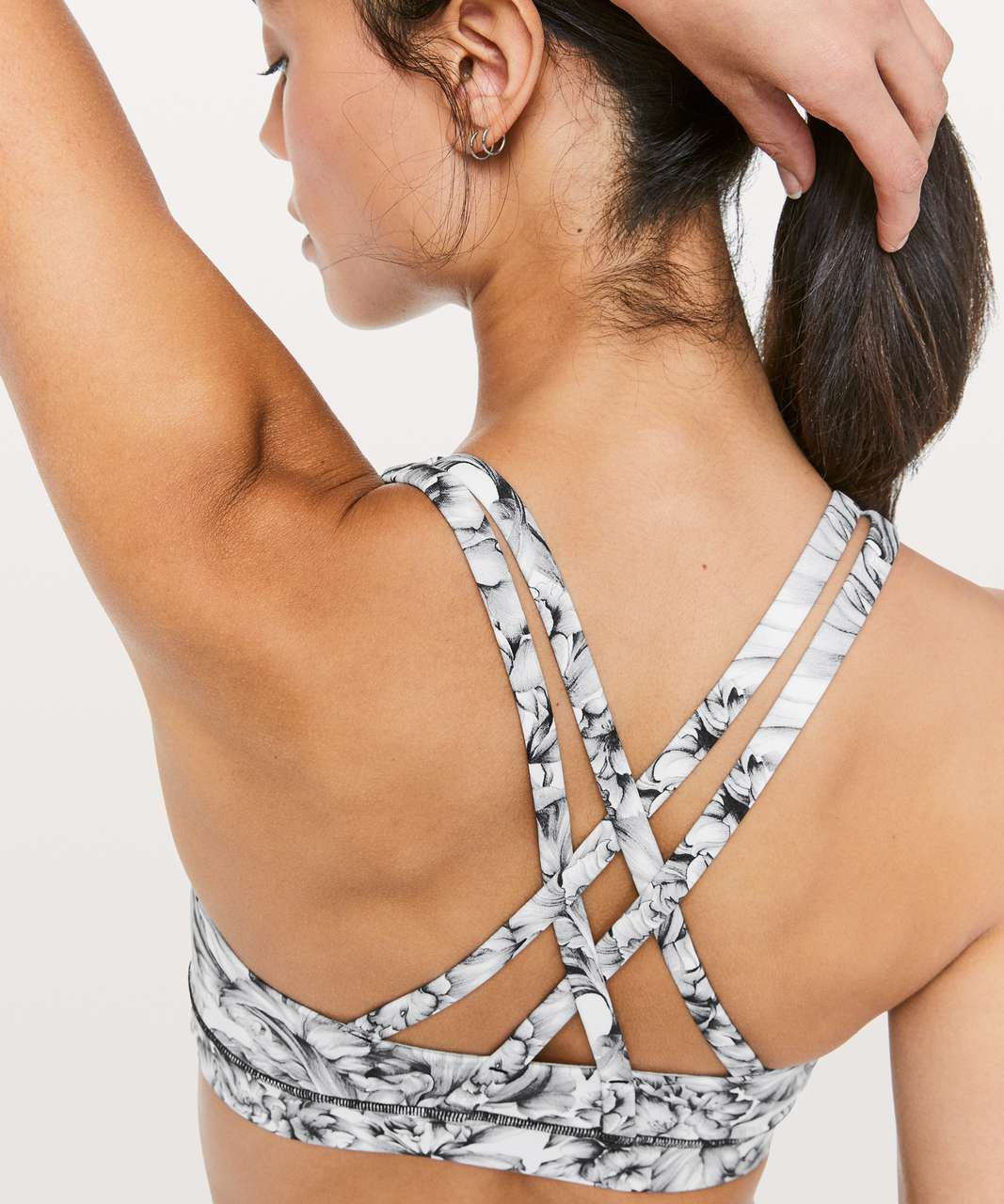 Lululemon Energy Bra - Light Garden White Black
