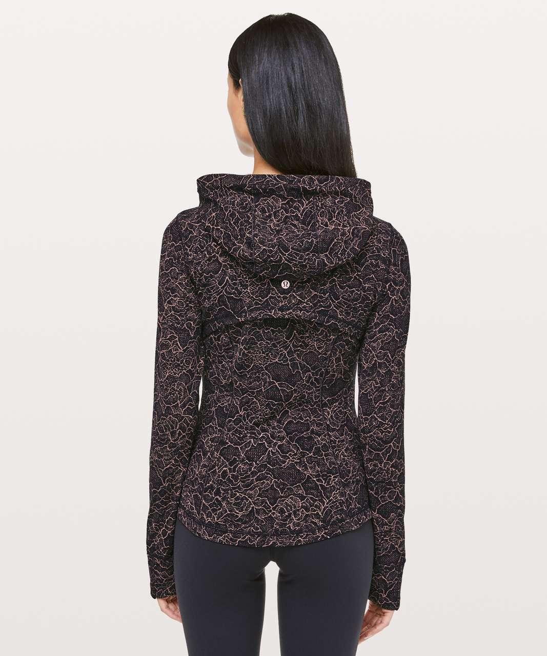 Lululemon Hooded Define Jacket *Nulu - Lacescape Spanish Rose Black