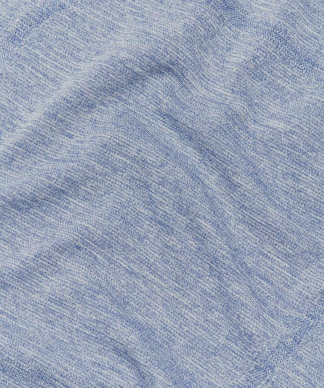Lululemon Swiftly Tech Short Sleeve Crew *Sparkle - Gatsby Blue / White / Silver