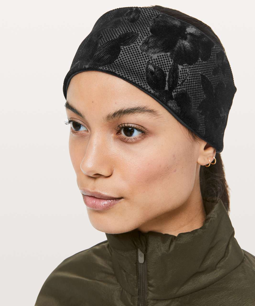 Lululemon Forget The Shivers Earwarmer - Black / Silver Reflective