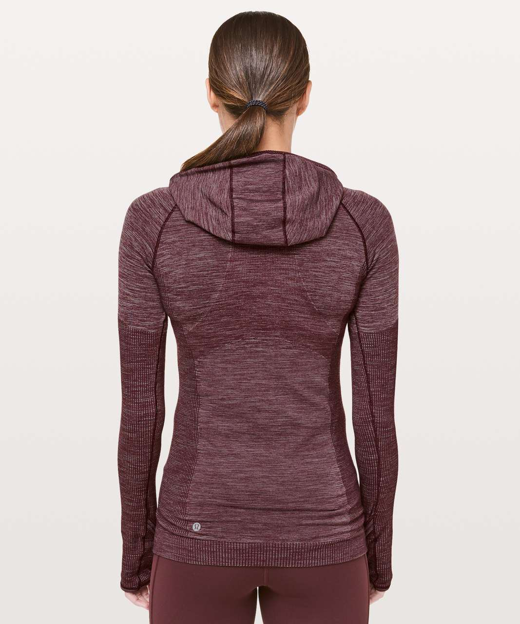 Lululemon Swiftly Wool 1/2 Zip Hoodie - Dark Adobe / White