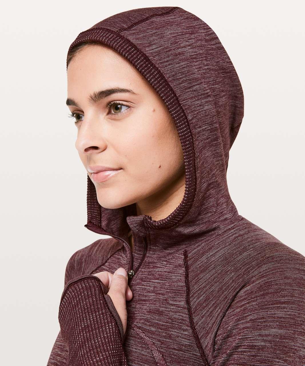 Lululemon Swiftly Wool 1/2 Zip Hoodie - Dark Adobe / White