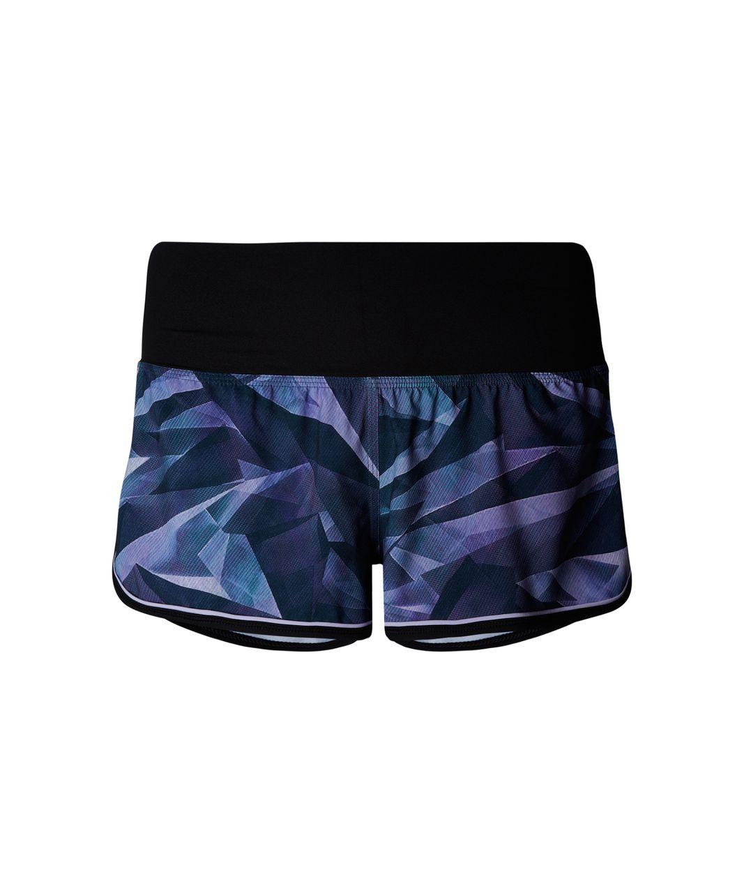 Lululemon Drop It Low Short - Pretty Prism Multi / Black / Lilac