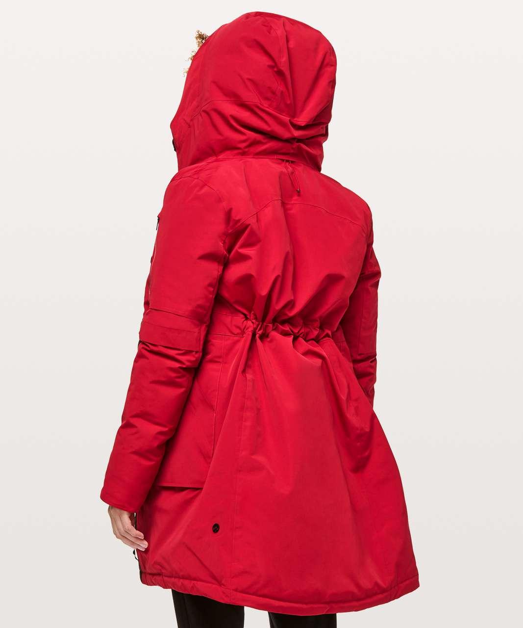 Lululemon Winter Warrior Parka - Dark Red