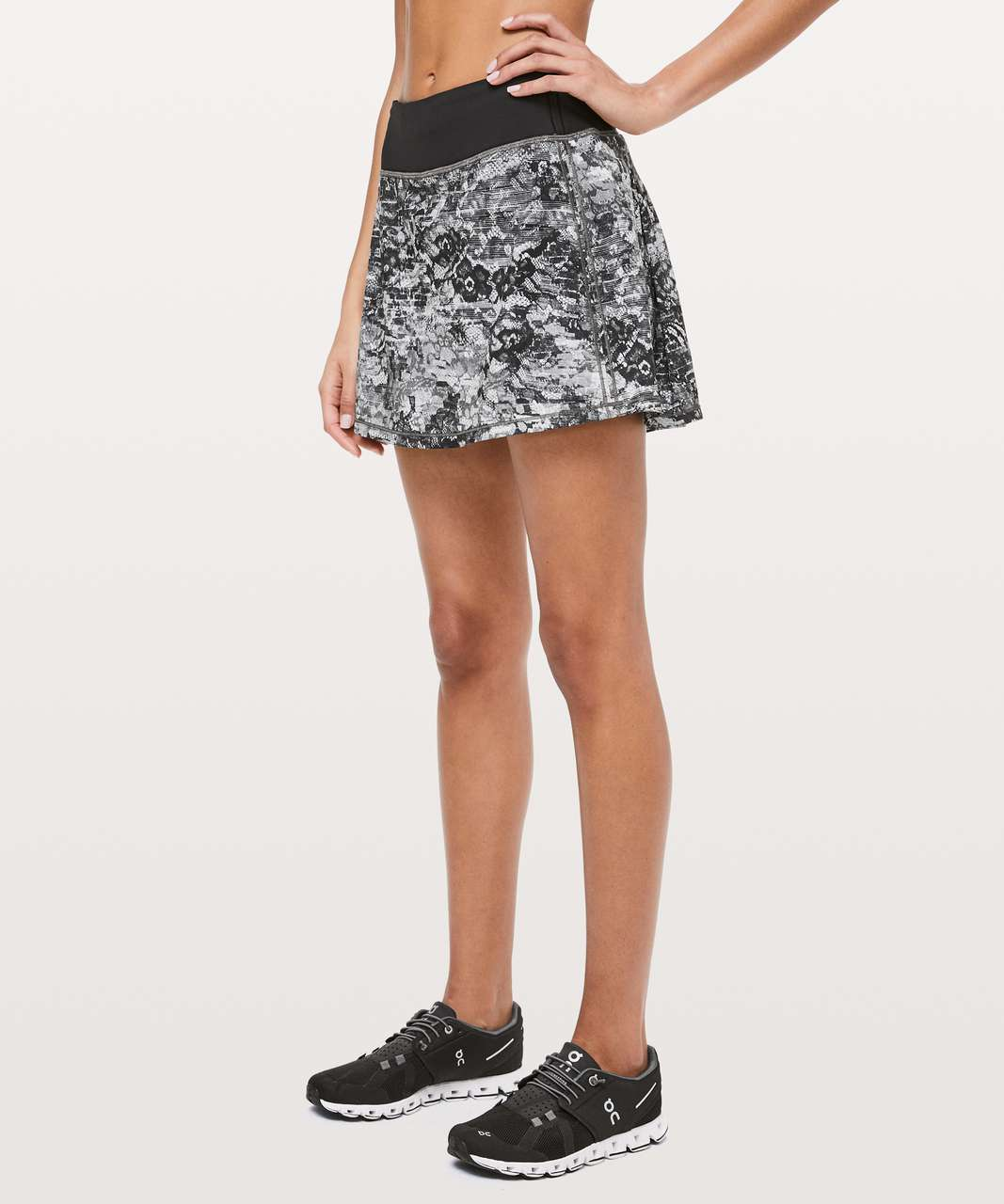 "Lululemon Pace Rival Skirt (Tall) *No Panels 15"" - Masked Lace Starlight Black / Black"