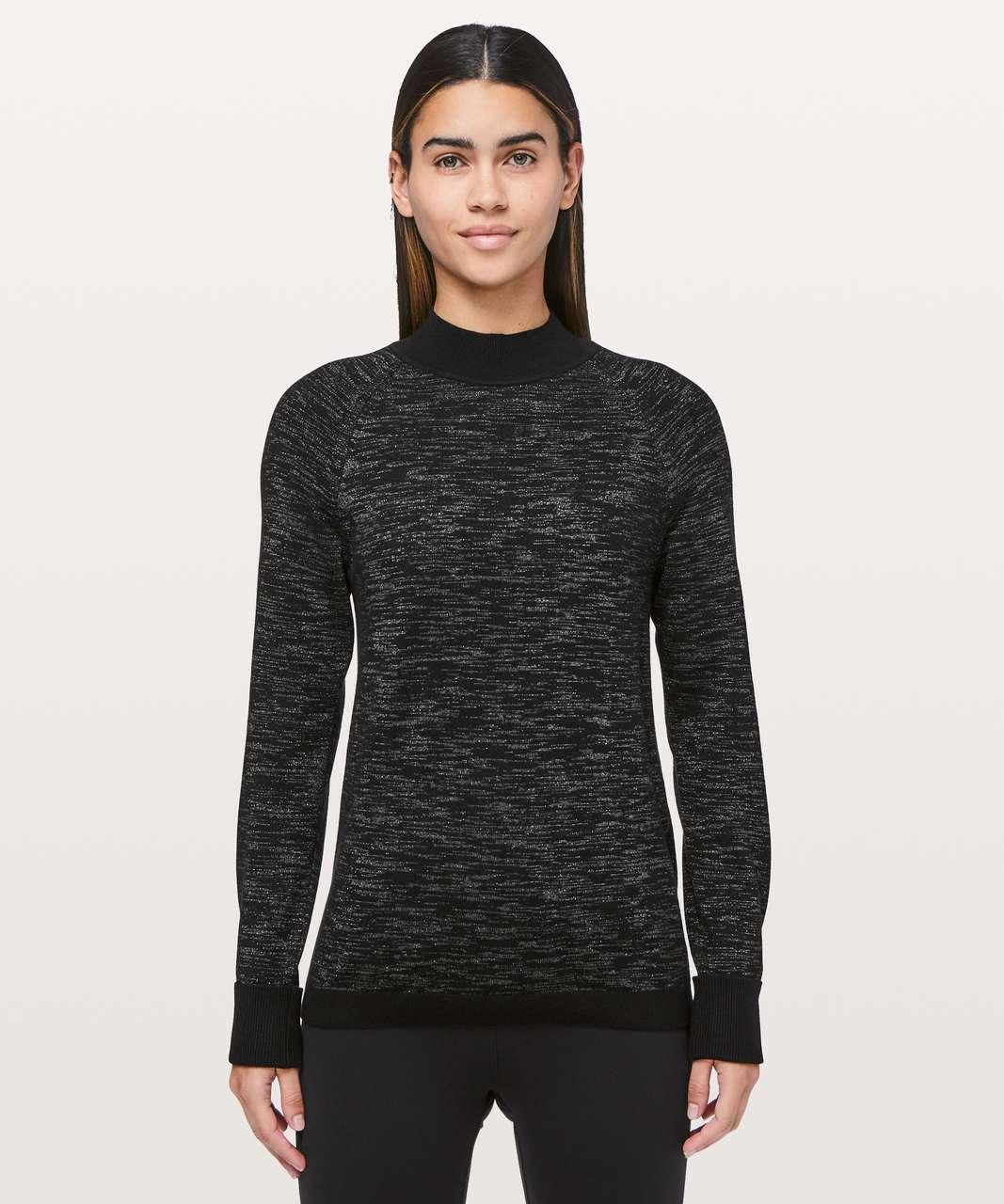 7b81420b8bb Lululemon Soft Shine Sweater - Black / Steel Grey