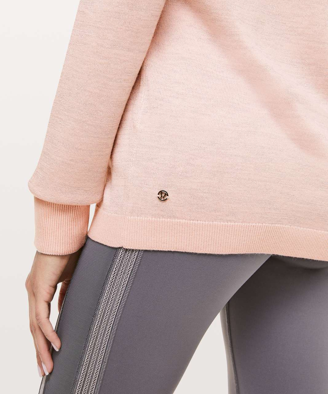 Lululemon Soft Shine Sweater - Misty Pink / Antique Silver