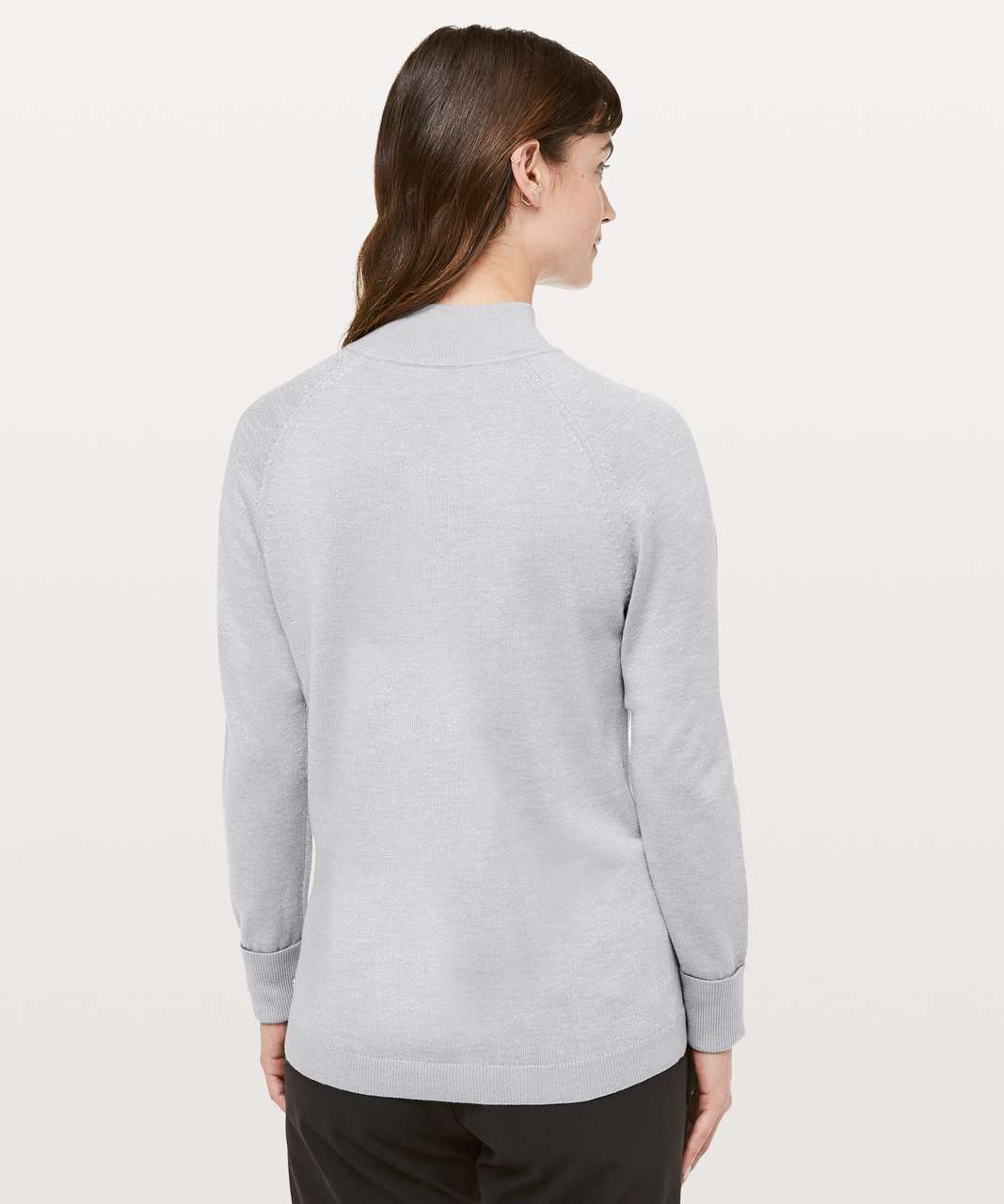 Lululemon Soft Shine Sweater - Heathered Silver Drop / Antique Silver