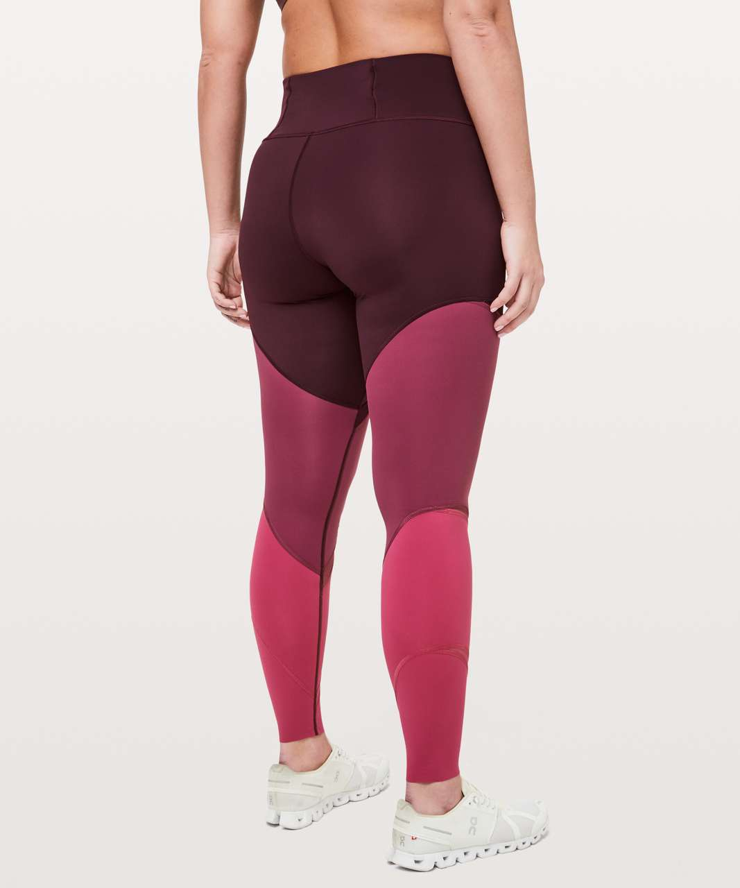 "Lululemon Colour Me Ombre Tight *28"" - Dark Adobe / Blush Berry / Violet Red"
