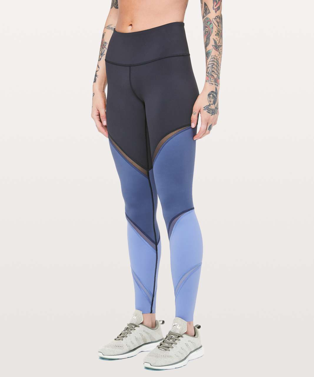 "Lululemon Colour Me Ombre Tight *28"" - Midnight Navy / Gatsby Blue / Visto Blue"