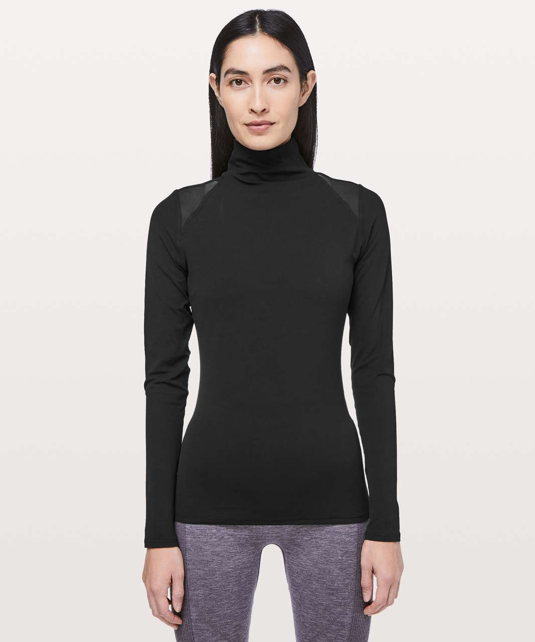Lululemon Ethereal Mock Neck - Black