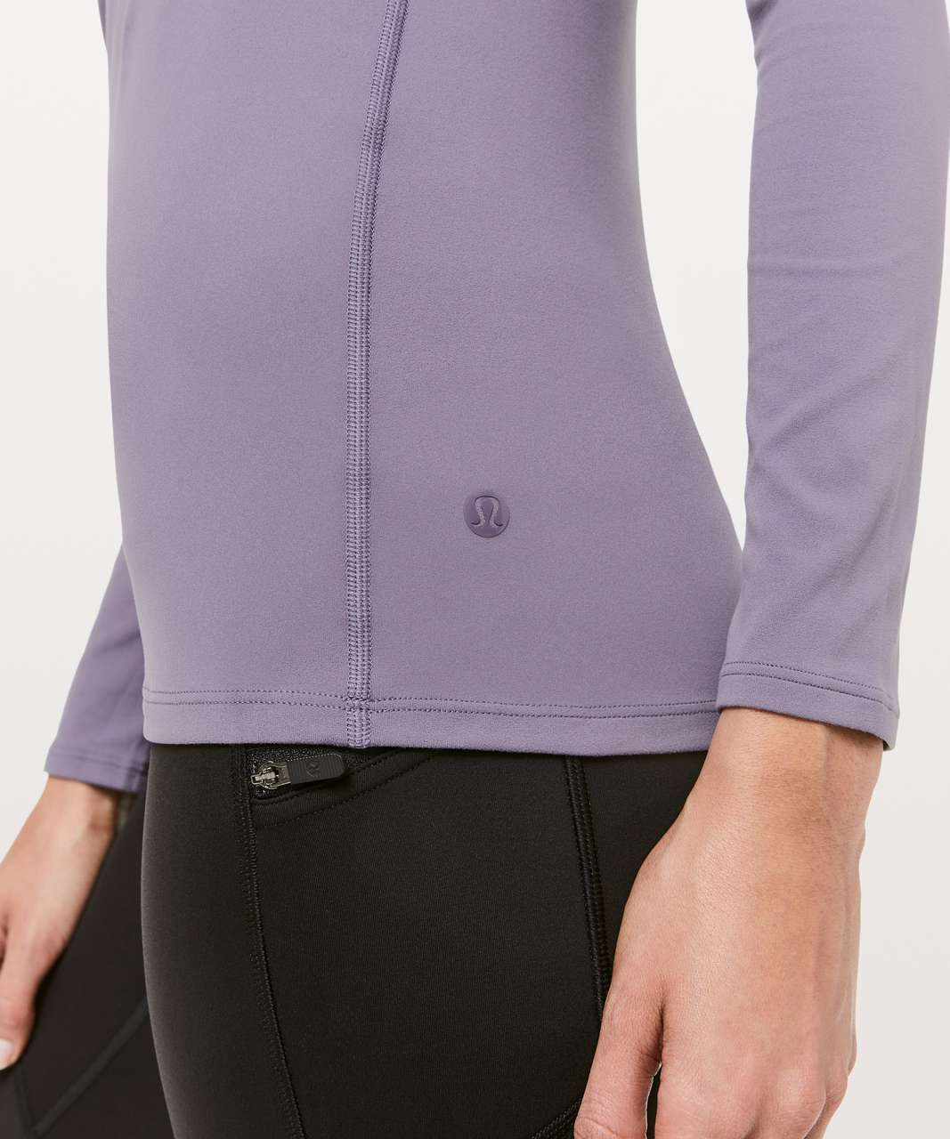 Lululemon Ethereal Mock Neck - Purple Quartz