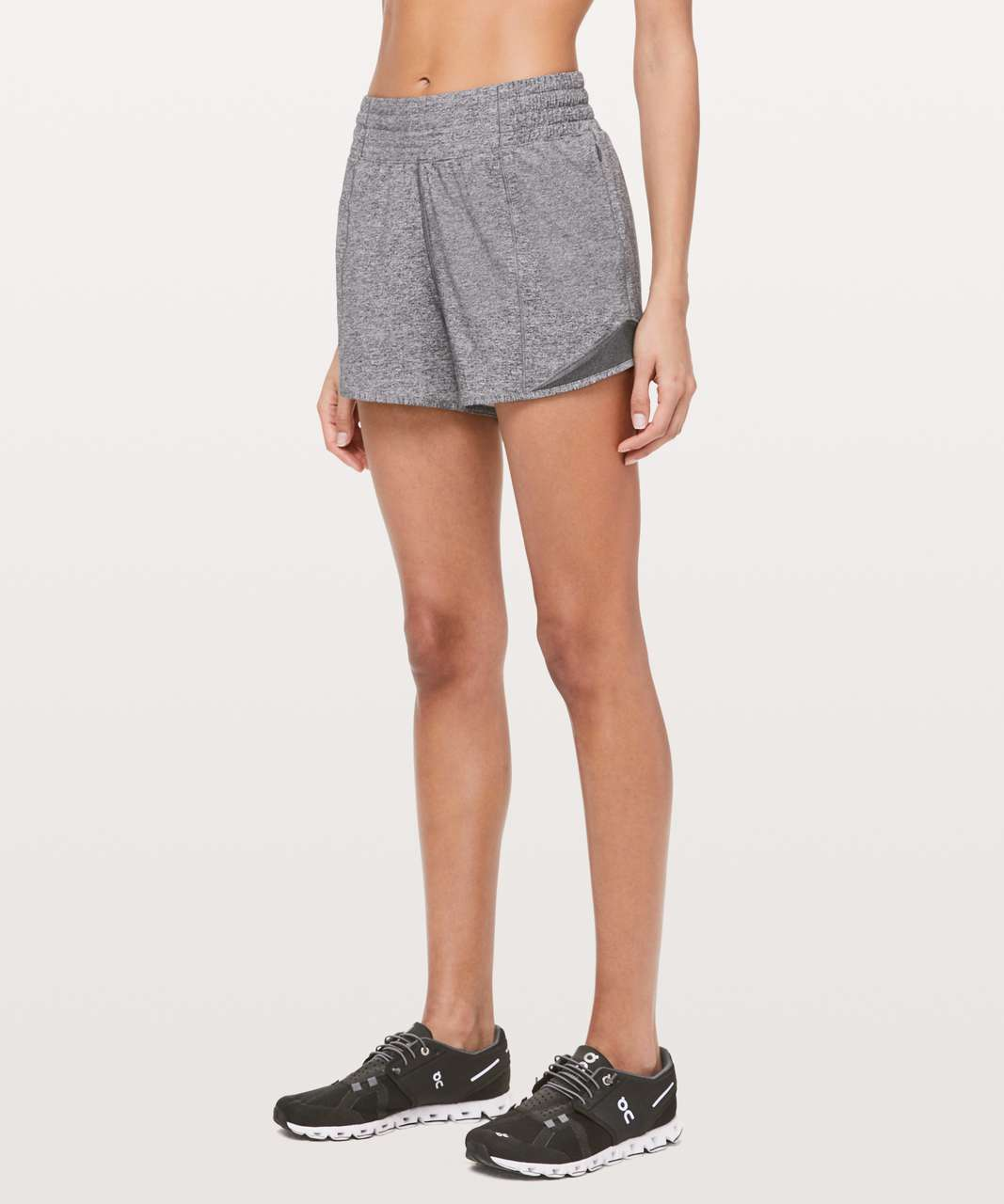 """Lululemon Hotty Hot Short *High-Rise Long 4"""" - Heather Lux Multi Black / Heathered Black (First Release)"""