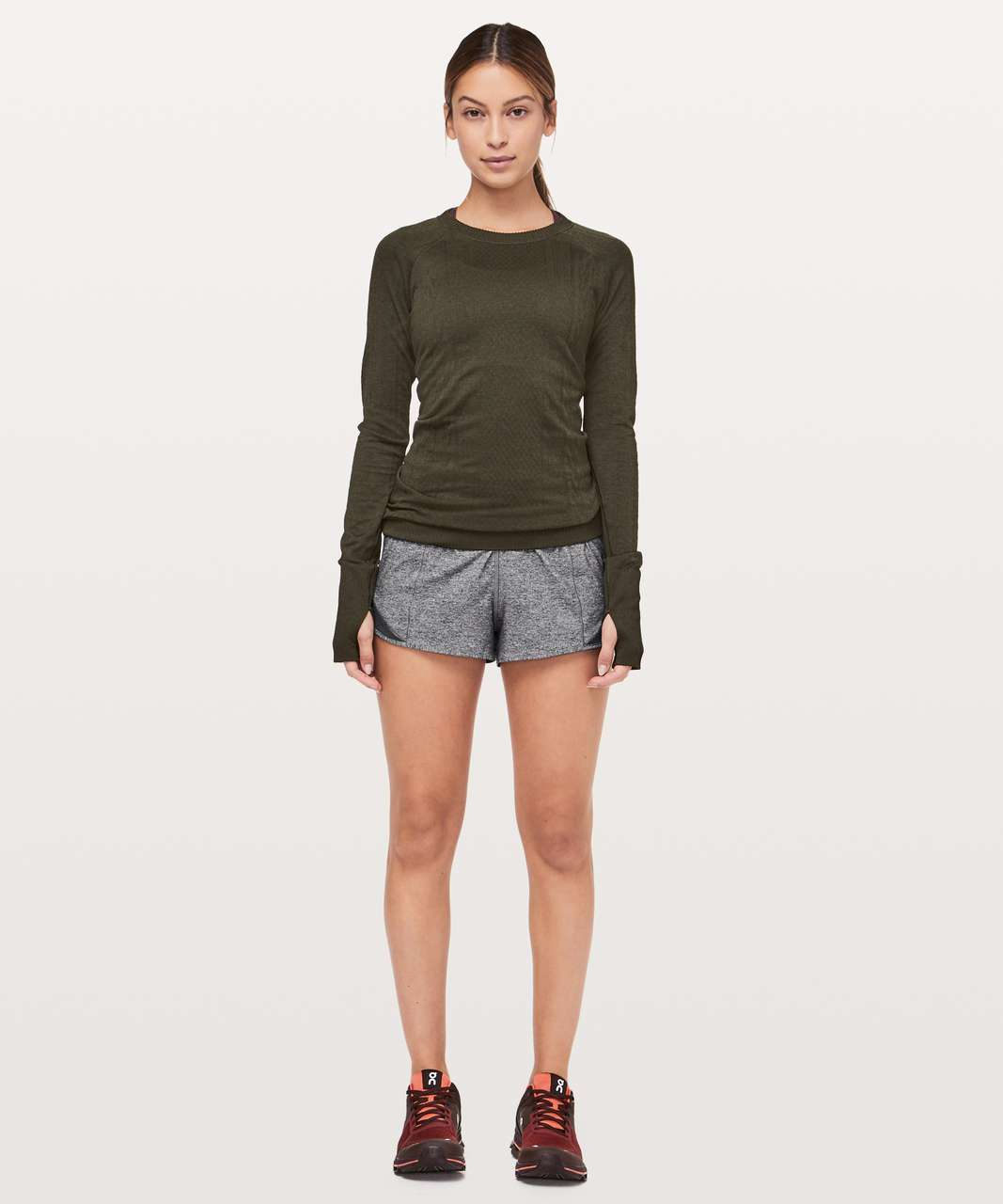 "Lululemon Hotty Hot Short *High-Rise 2.5"" - Heather Lux Multi Black / Heathered Black (First Release)"