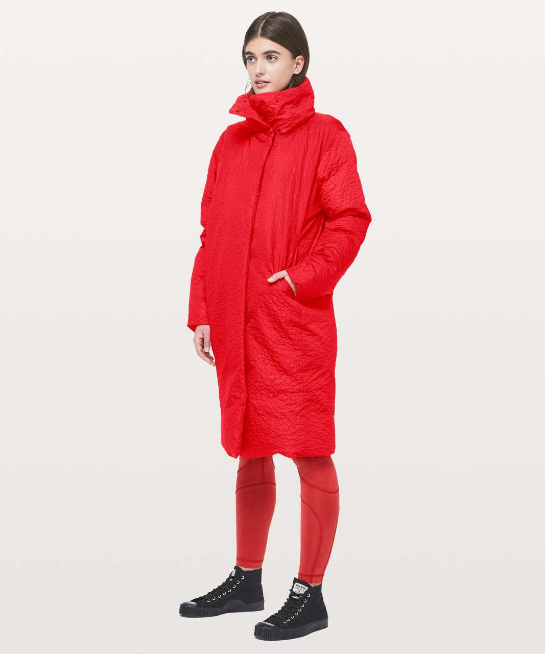 Lululemon Shiwa Long Puff - Fiery Red