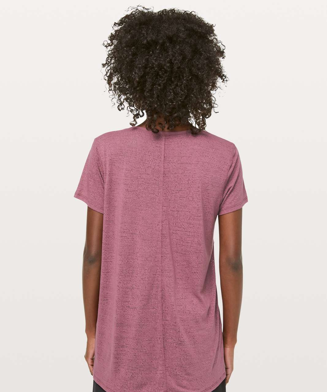 Lululemon Back To Me Tee - Misty Merlot