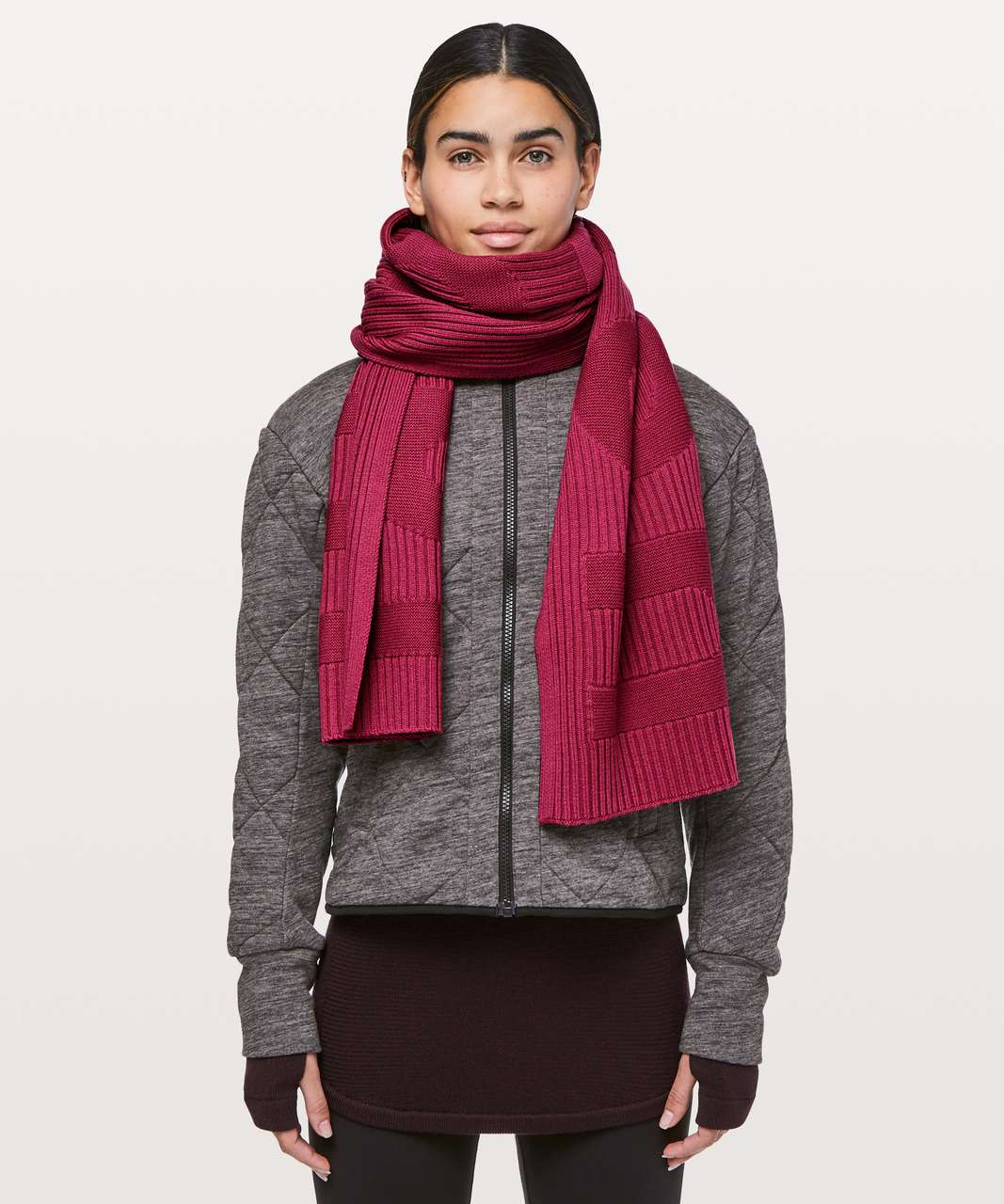 Lululemon Stamped With Love Scarf - Violet Red