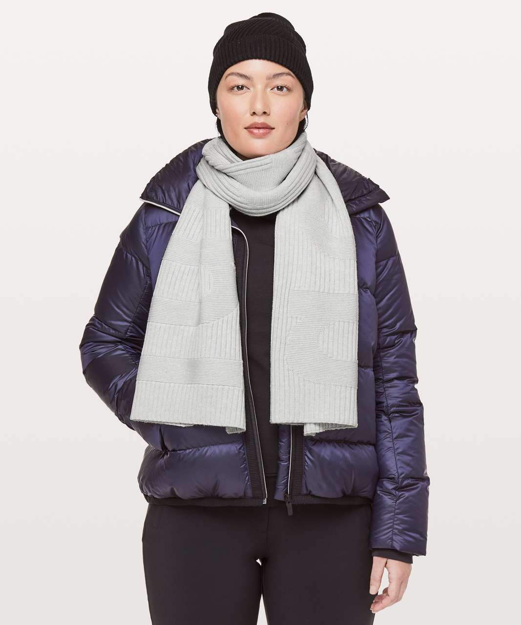 Lululemon Stamped With Love Scarf - Heathered Core Ultra Light Grey