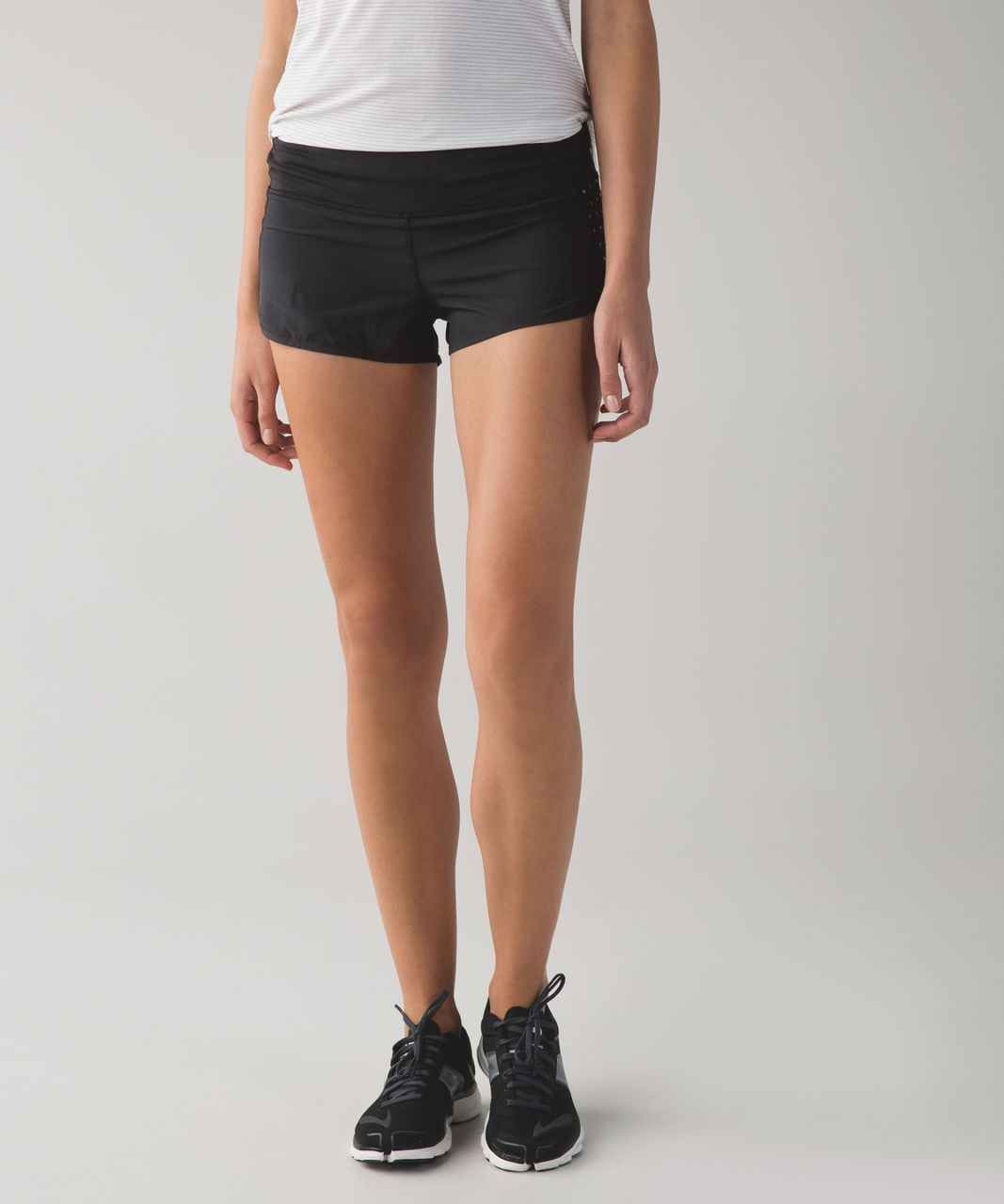 Lululemon Speed Short - Black (Reflective Dots)
