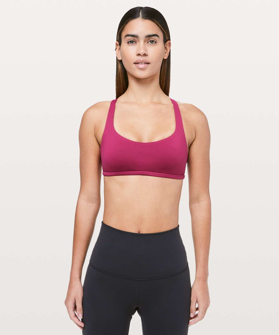 Lululemon Free To Be Bra (Wild) - Violet Red / Neon Pink