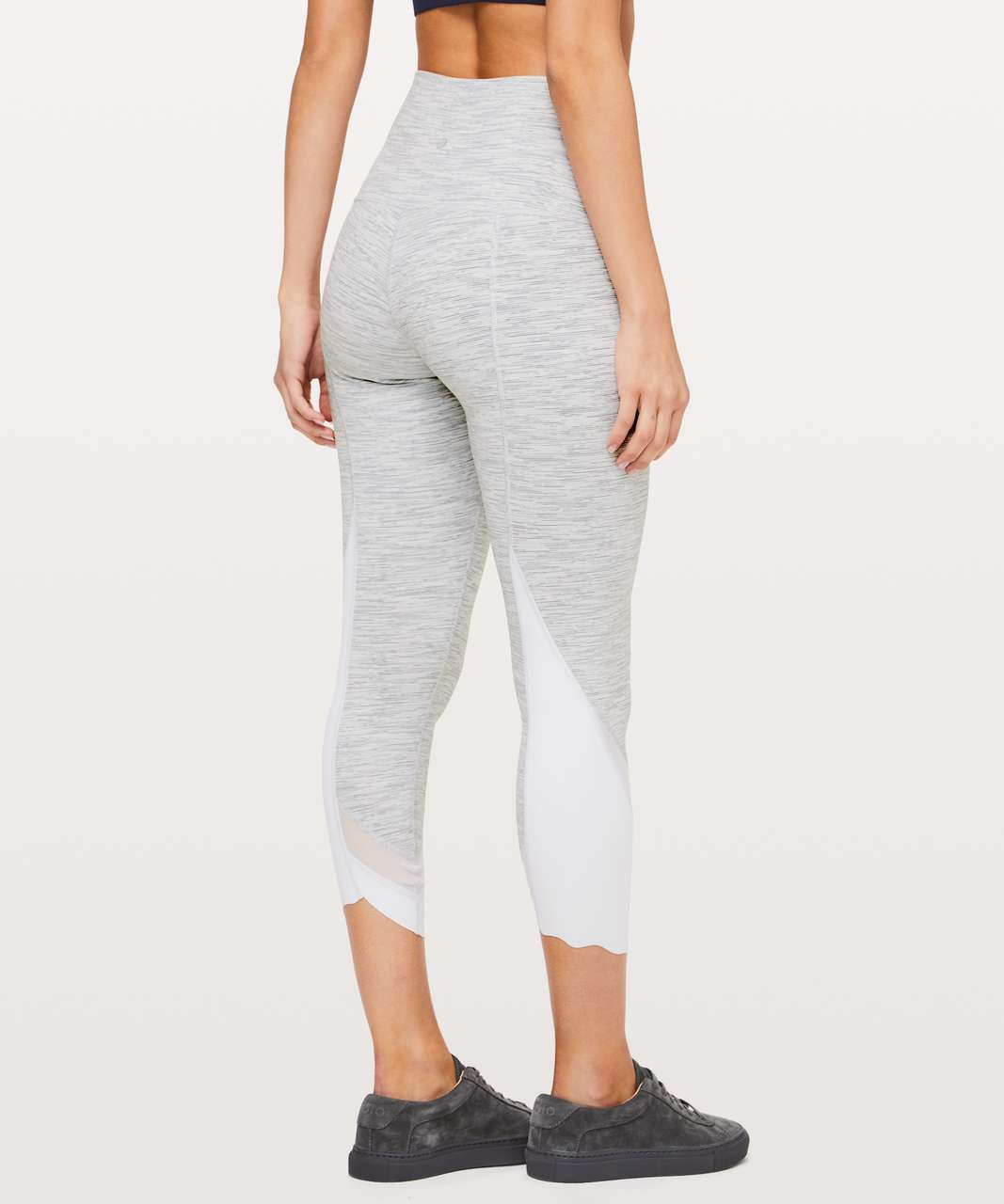 "Lululemon Wunder Under Crop II (Special Edition) *Scallop 24"" - Wee Are From Space Nimbus Battleship"