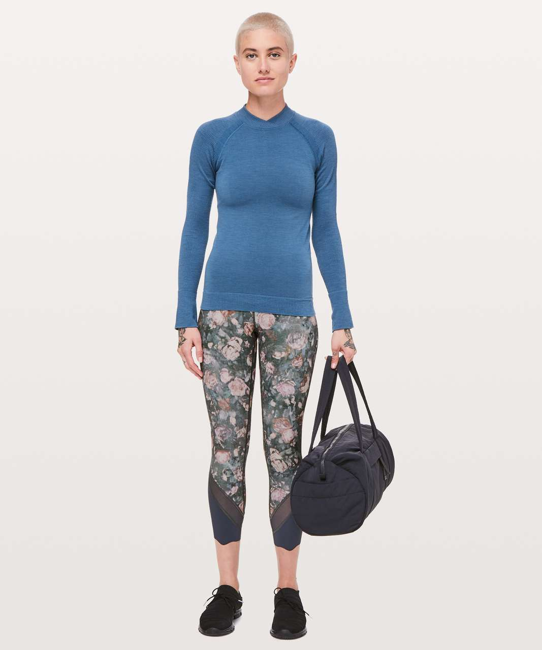 "Lululemon Wunder Under Crop II (Special Edition) *Scallop 24"" - Frosted Rose Multi / Melanite"