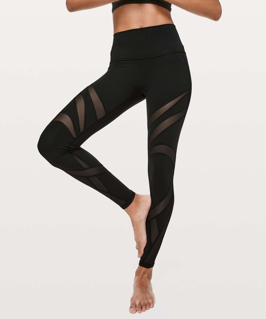 "Lululemon Wunder Under High-Rise Tight *Mesh 28"" - Black"