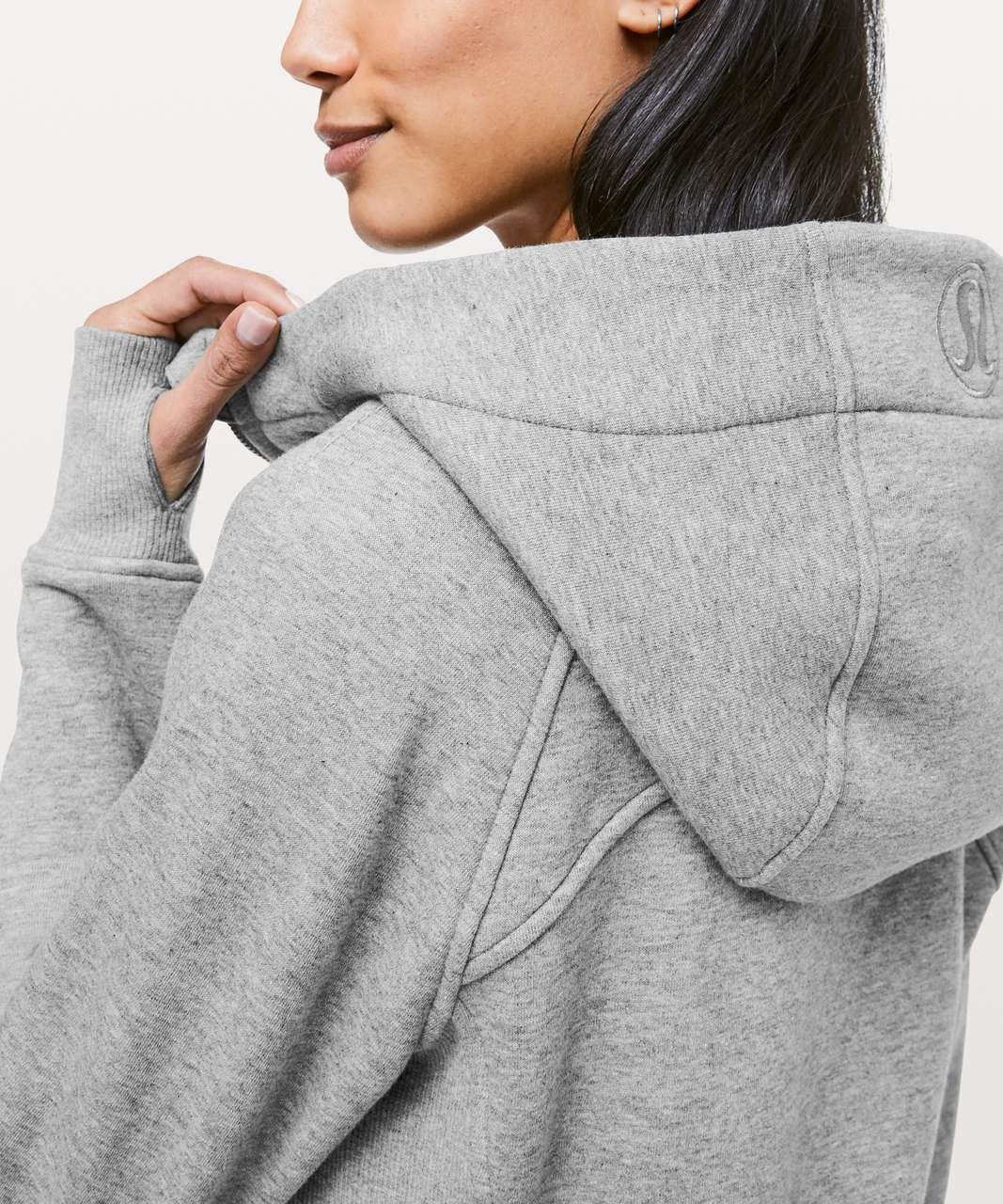 Lululemon Light As Warmth Scuba Hoodie - Heathered Core Medium Grey