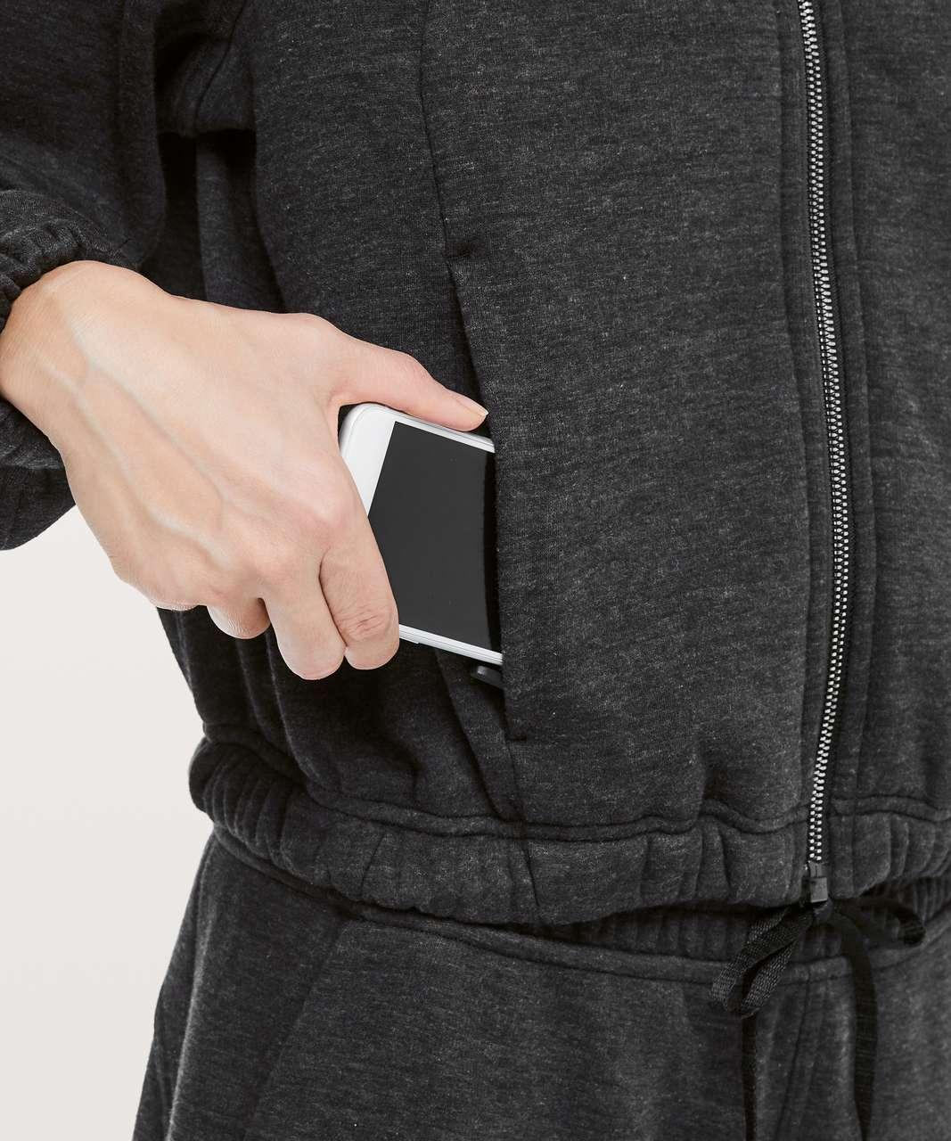 Lululemon Plush Times Jacket - Heathered Core Black / Black