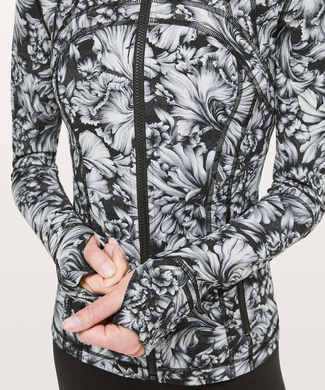 Lululemon Define Jacket *Luxtreme - Night Garden Ice Grey Black