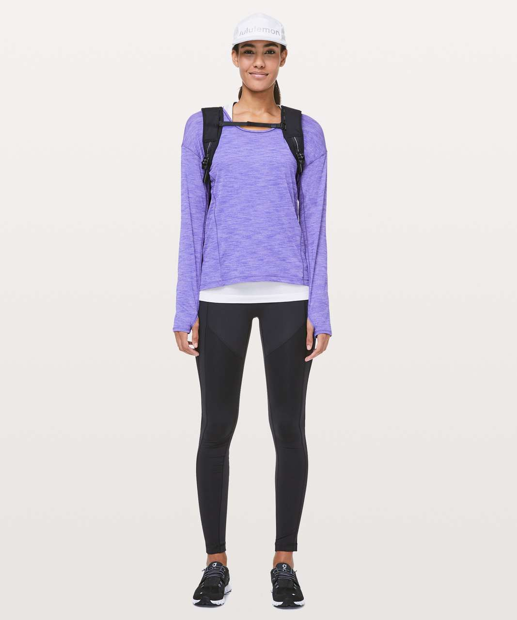 Lululemon Sweat Embrace Long Sleeve - Heathered Lazurite