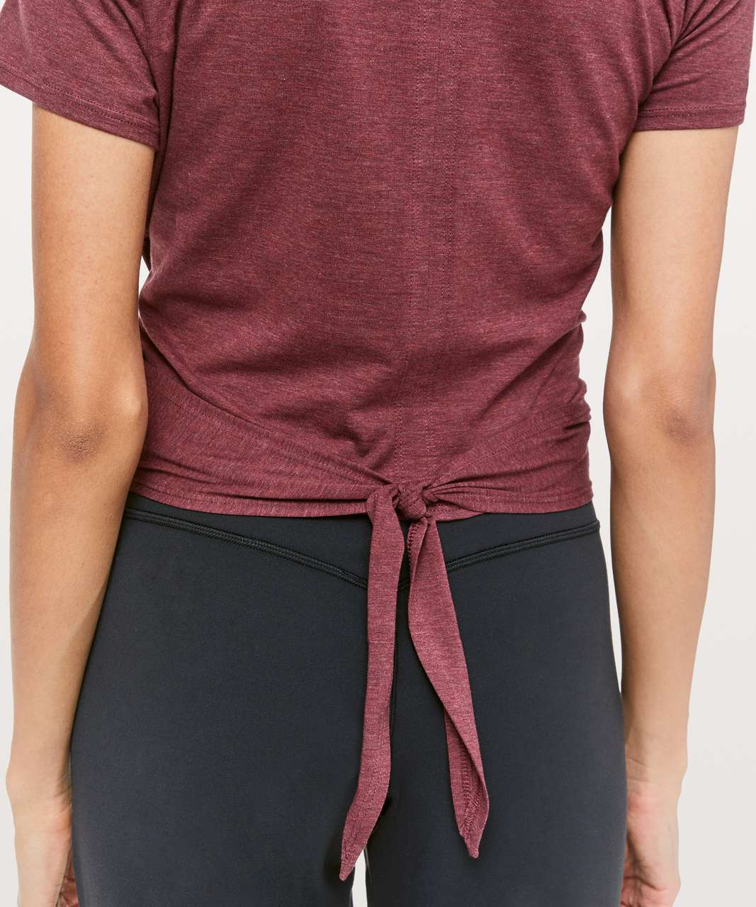 Lululemon Time To Restore Short Sleeve - Heathered Dark Sport Red
