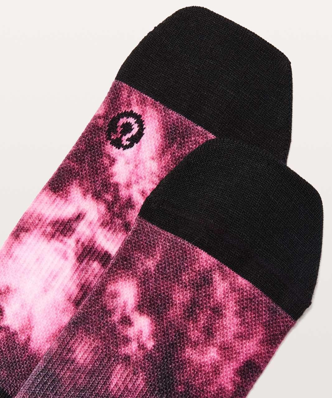 Lululemon True Crew Sock - Tye Dye Pink / Black