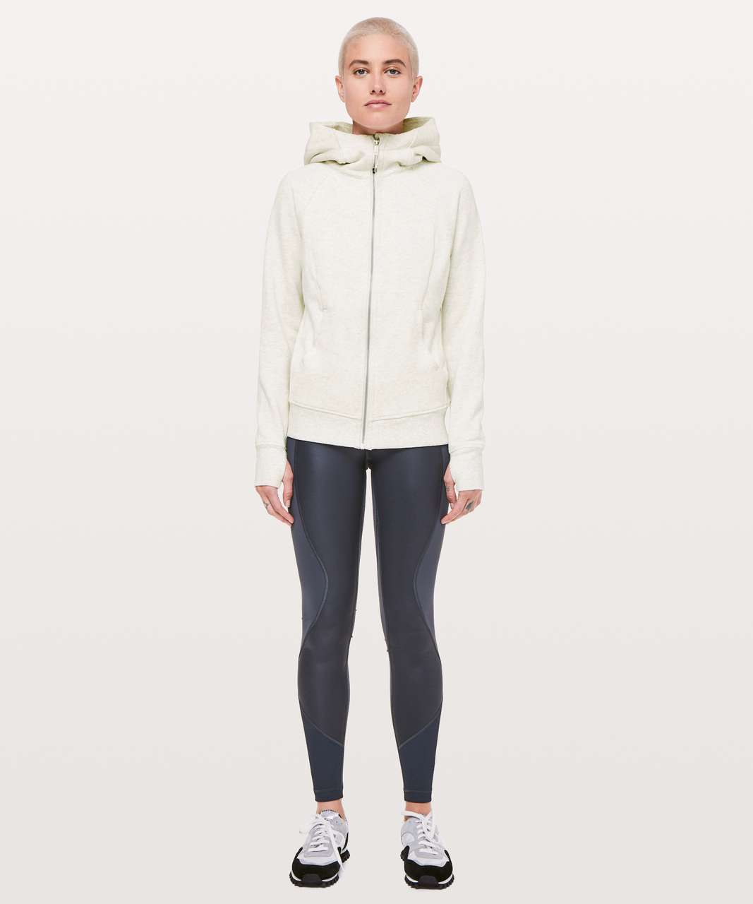 Lululemon Scuba Hoodie *Light Cotton Fleece - Heathered Light Ivory
