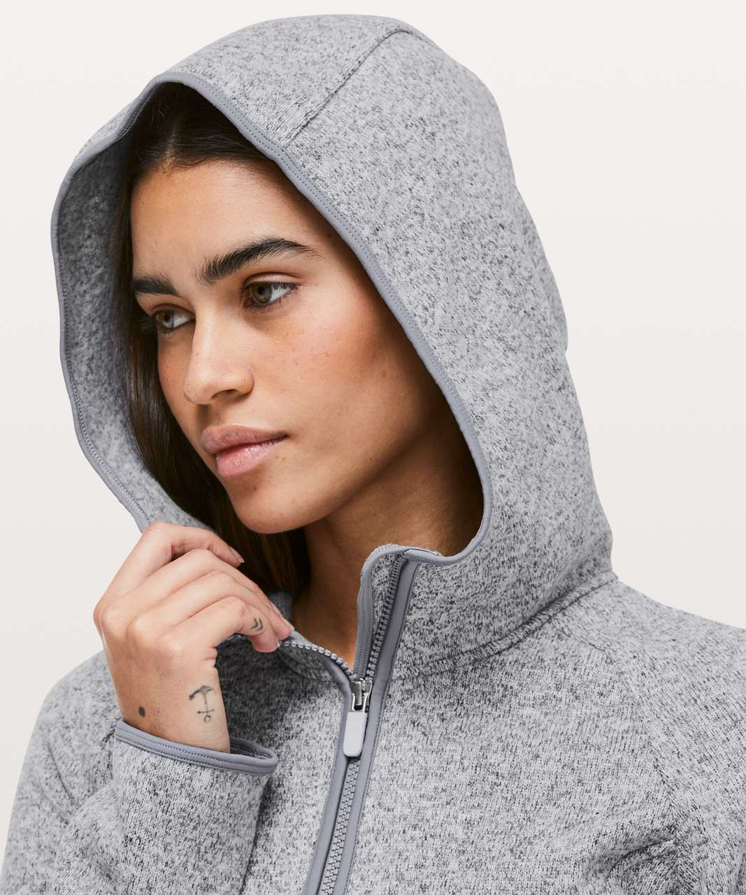 Lululemon Fleece & Thank You Pullover - Heathered Silver Lilac